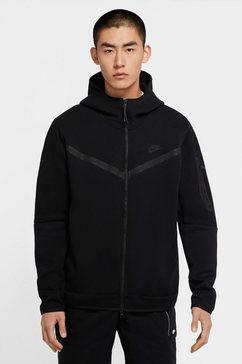 nike capuchonsweatvest »nike sportswear tech fleece men's full-zip hoodie« zwart