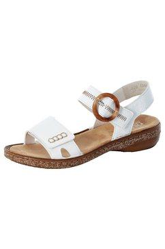 rieker sandalen met modieus sierstiksel wit