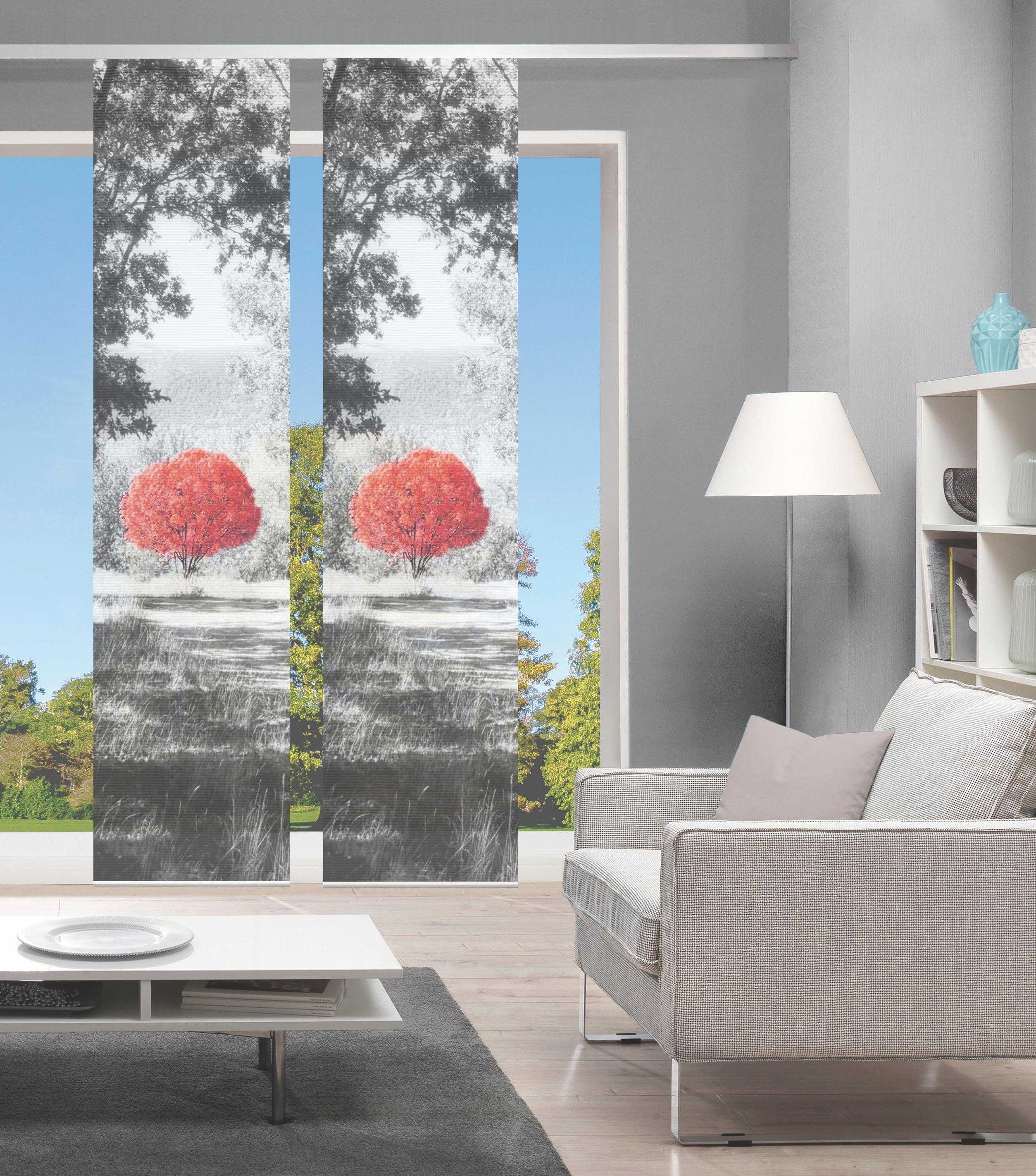 Vision Paneelgordijn AMENO set van 2 Bamboe-look, digitaal bedrukt (2 stuks) in de webshop van OTTO kopen