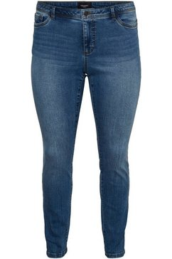 vero moda curve slim fit jeans »manya« blauw