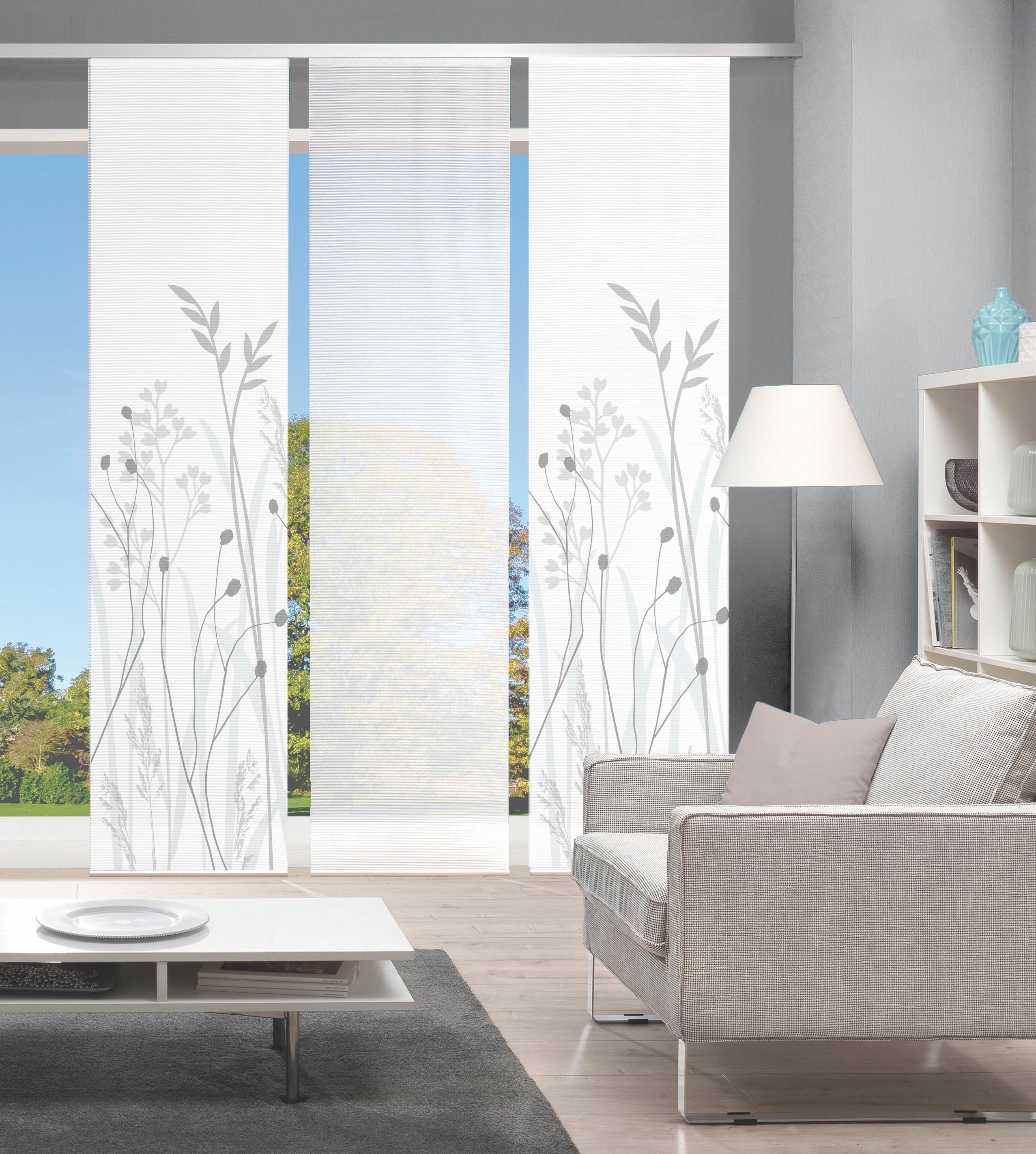 Vision Paneelgordijn GRASIL set van 3 Bamboe-look, digitaal bedrukt (3 stuks) - verschillende betaalmethodes