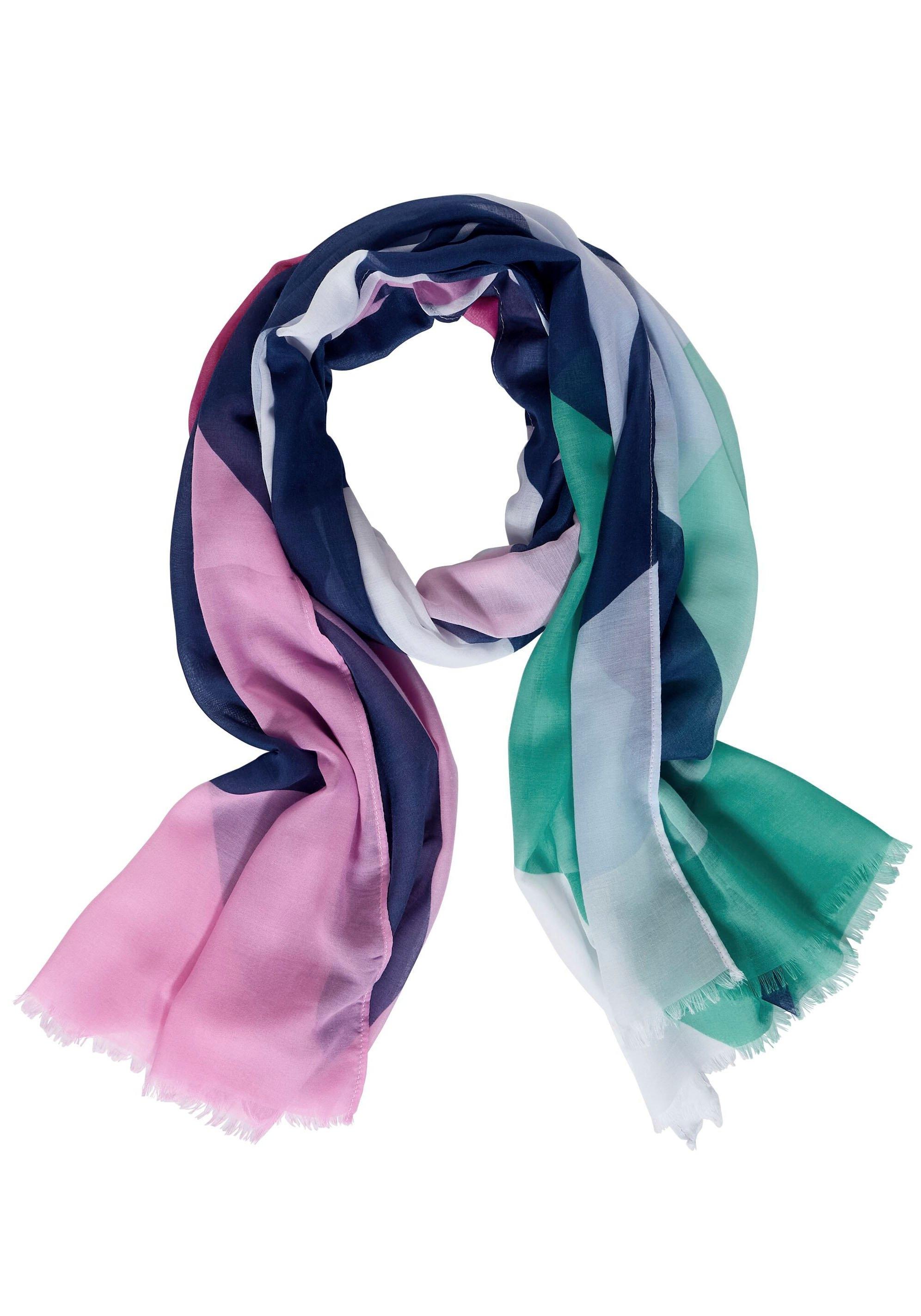 STREET ONE modieuze sjaal met multicolourblock bestellen: 30 dagen bedenktijd