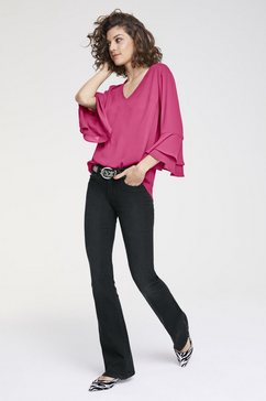 kraagloze blouse roze