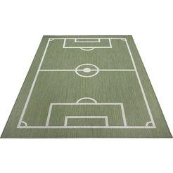 luettenhuett vloerkleed voor de kinderkamer voetbalveld beige