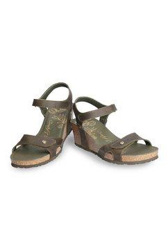 panama jack sandaaltjes met praktisch klittenbandriempje groen