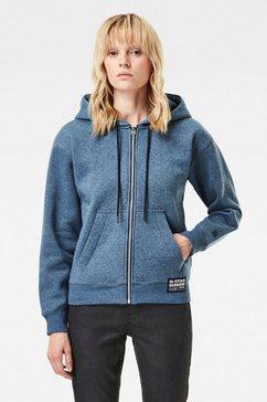 g-star raw sweatshirt »premium core hooded zip through sweatshirt« blauw