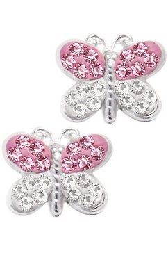firetti oorbellen: oorstekers 'vlinder' met swarovski elements roze
