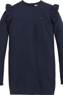 tommy hilfiger tricotjurk blauw