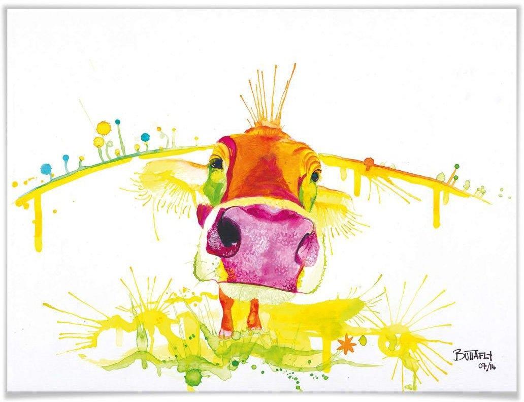 Wall-Art Poster Crazy Calf Poster, artprint, wandposter (1 stuk) nu online kopen bij OTTO