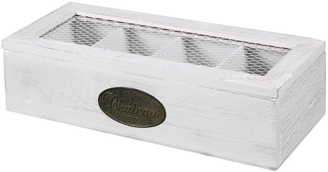 Ambiente Haus opbergbox Theedoosje van hout 4 vakken (1 stuk) voordelig en veilig online kopen