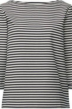 esprit sweatshirt in leuke streep-look en met 3-4-mouwen blauw