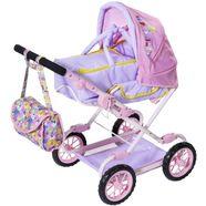 baby born poppenwagen deluxe pram inclusief luiertas paars