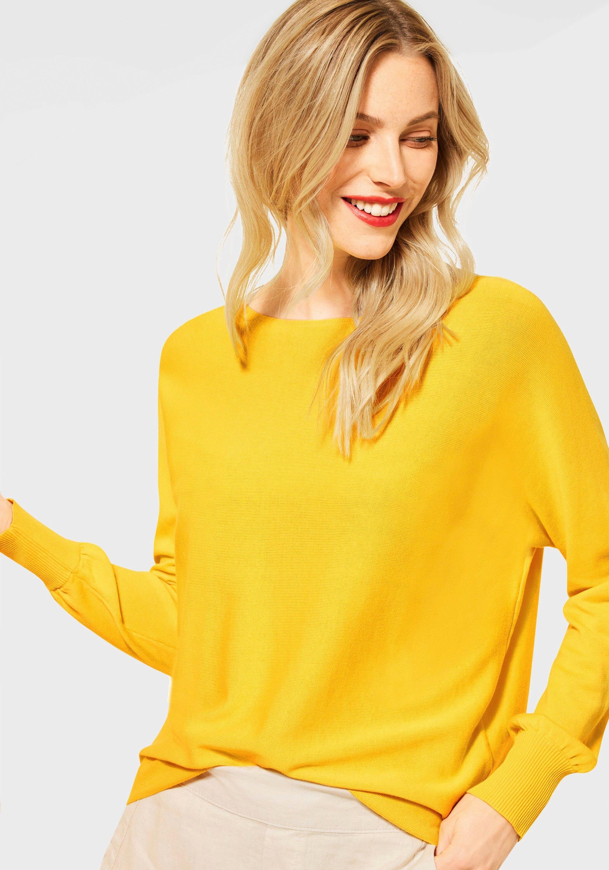 STREET ONE trui met ronde hals met een afgeronde zoom bij OTTO online kopen
