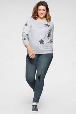 arizona sweatshirt met sterrenprint in casual look grijs