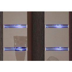 set: led-verlichting voor glasplateau blauw