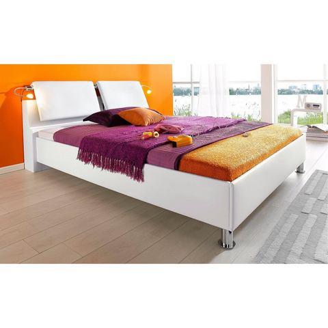 Bed met verschillende soorten matrassen 100x200 cm wit Breckle 765324