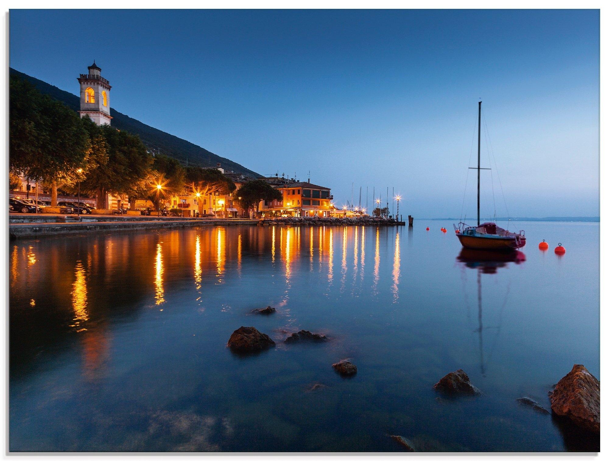 Artland print op glas Onlangs 's avonds aan het meer... (1 stuk) in de webshop van OTTO kopen