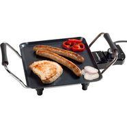 bestron teppanyaki-grill elektrische planchaplaat met antiaanbaklaag, zwart zwart
