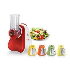 moulinex elektrische snijmachine 'fresh express plus' dj752g 150 w rood