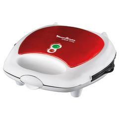 moulinex 3-in-1-combi-wafelijzer sw6125 wafelijzer, paninigrill en sandwich-maker in één apparaat rood
