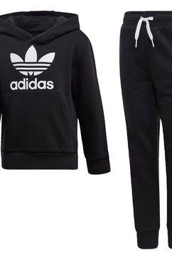 adidas originals joggingpak »trefoil hoodie-set« zwart