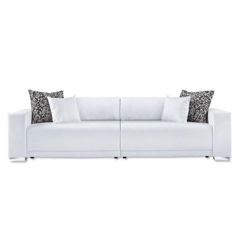 woonkamer extra groot bankstel beige Megabank L Primabelle Softlux of structuurstof 112