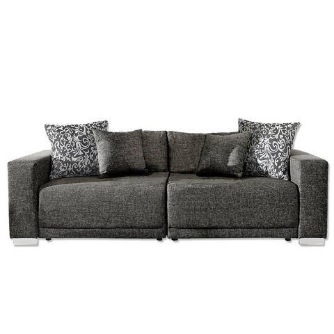 woonkamer extra groot bankstel grijs Megabank L Primabelle Softlux of structuurstof 90