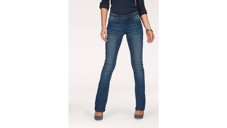 Arizona bootcut jeans Met contrasterende stiksels Mid waist