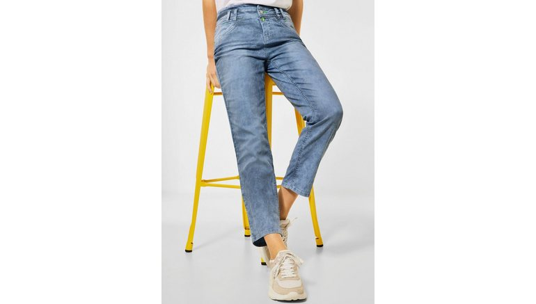 STREET ONE ankle jeans Tilly met smal streepdessin