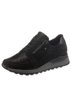 waldlaeufer sneakers met sleehak hiroko in wijdte h, ortho-tritt-uitvoering zwart