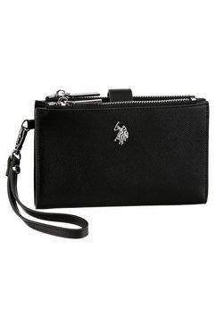 u.s. polo assn portemonnee jones in tijdloos design met rondom aangebrachte ritssluiting zwart