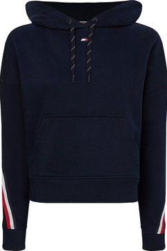tommy sport hoodie »relaxed tape hoodie ls« blauw