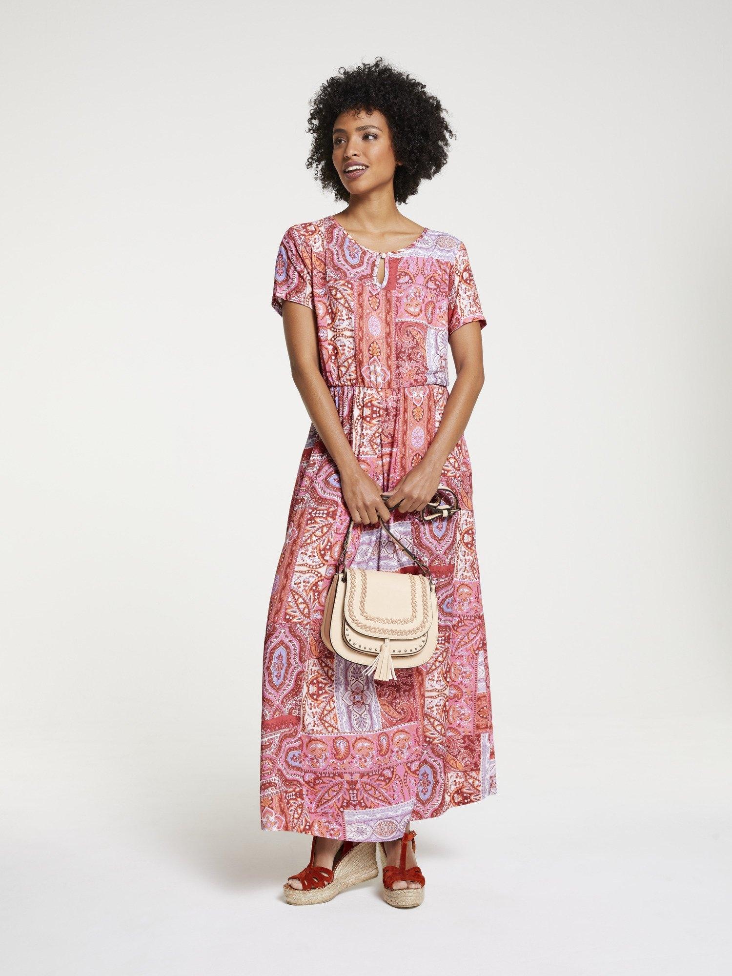 LINEA TESINI by Heine maxi-jurk met een bloemmotief bestellen: 30 dagen bedenktijd