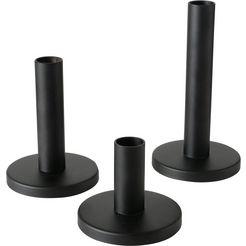 boltze kaarsenhouder malko gemaakt van ijzer (set, 3 stuks) zwart