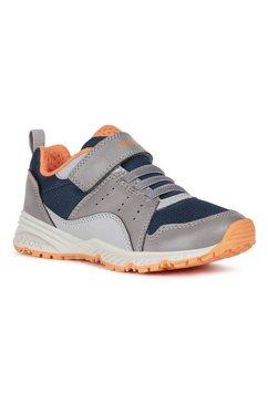 geox kids sneakers bernie met veelkleurige loopzool grijs