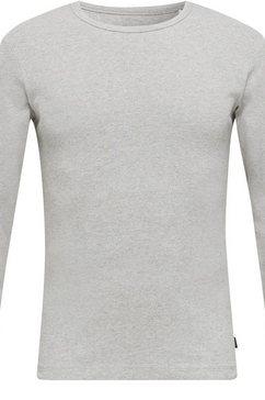 esprit shirt met lange mouwen fraai basic artikel grijs