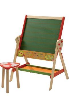 roba staand schoolbord met kruk multicolor