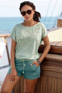 venice beach shirt met ronde hals met logoprint groen