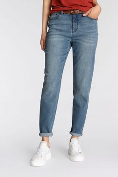 tamaris mom jeans in 5-pocketsstijl - nieuwe collectie blauw