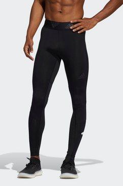 adidas performance functionele tights »techfit lange« zwart