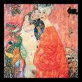 artprint met lijst »klimt - die freundinnen« multicolor
