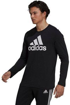 adidas performance shirt met lange mouwen big logo sj longsleeve tee zwart