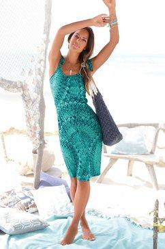 s.oliver red label beachwear strandjurk (met bindstrik) groen