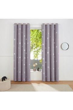 my home gordijn blackout curtain with foil print star (1 stuk) grijs