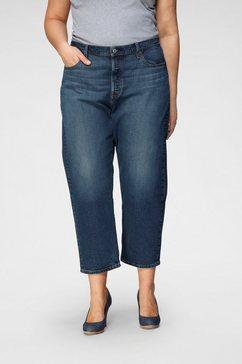 levi's straight jeans »501 crop« blauw