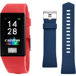 calypso watches smartime, k8500-4 smartwatch rood