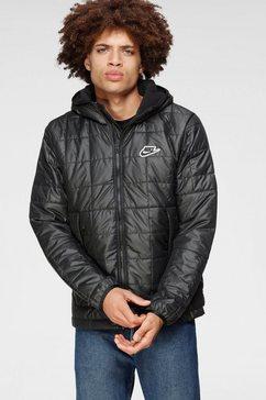 nike sportswear winterjack men's synthetic fill fleece jacket zwart