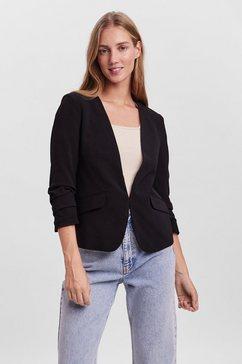 vero moda korte blazer vmhunter 3-4 blazer zwart
