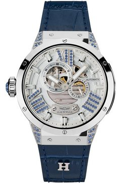 haemmer germany automatisch horloge »blue magic, gl-300« zilver