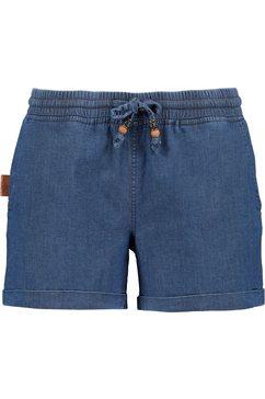 alife and kickin short janeak korte broek in eersteklas denim-elastan-stretchkwaliteit blauw